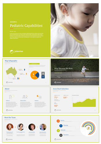 professional powerpoint template with colours and graphs
