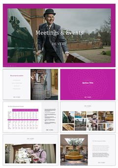 On brand corporate powerpoint template design